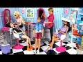 Barbie Beauty Salon Doll Makeover & Ken Barber Shop Toy - Titi Toys Barbie