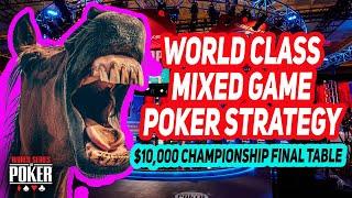 $10,000 HORSE Championship Final Table | 2021 WSOP screenshot 1