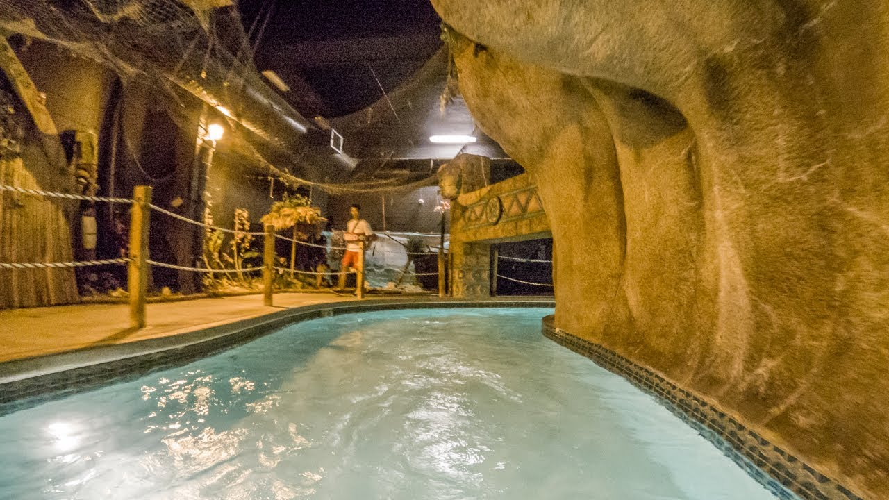 Dark Ride In A Waterpark  Lazy River   Polynesian Water