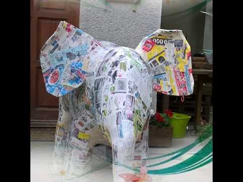 Paper Mache Elephant-How To Make 2/2