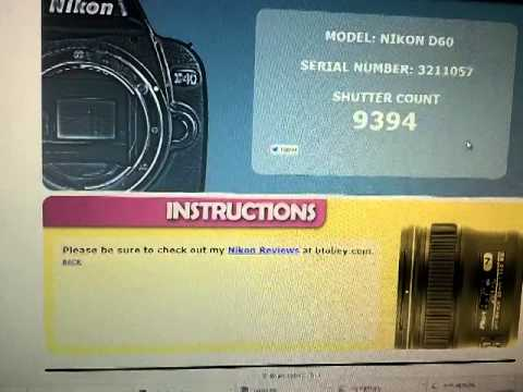 how to show shutter count on nikon