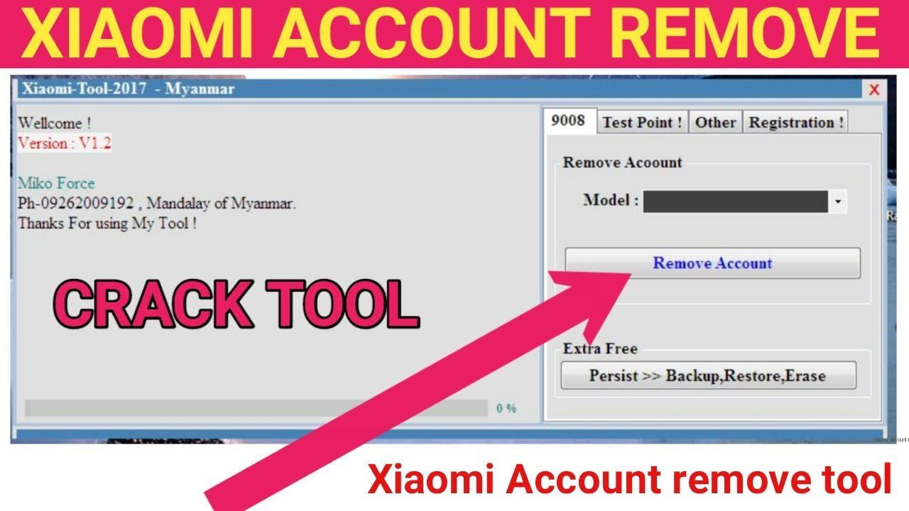 Xiaomi Account remove tool crack / test point & other google account remove