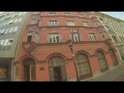 Ljubljana 2016 by bicycle - Art Noveau building (vis a vis Hotel Slon)