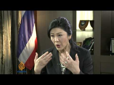 Thai PM Yingluck Shinawatra talks to Al Jazeera