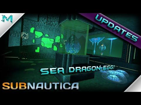 Subnautica UPDATES!  Sea Dragon Egg! New Warper Props, Cyclops Ruins, And MORE!