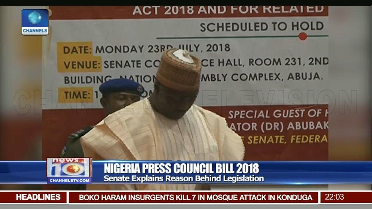 Senate Explains Reason Behind Nigeria Press Council Bill 2018