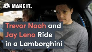 Trevor Noah And Jay Leno Ride In A Lamborghini
