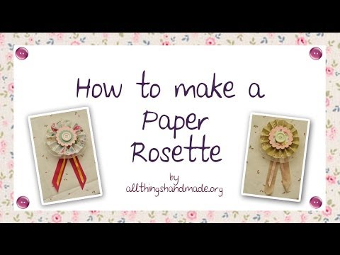 How to make a paper rosette youtube