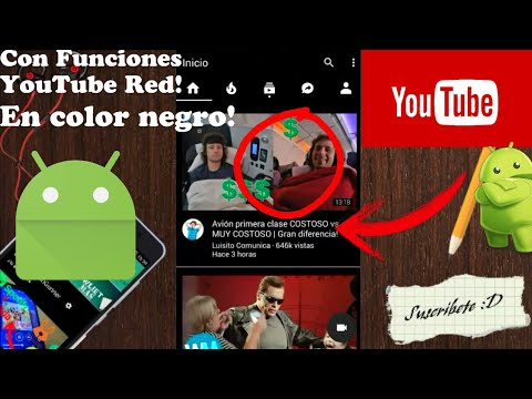 OG YouTube Negro APK | Android | Root/No Root | Actualizado | 2017 | Funciones YouTube Red Gratis