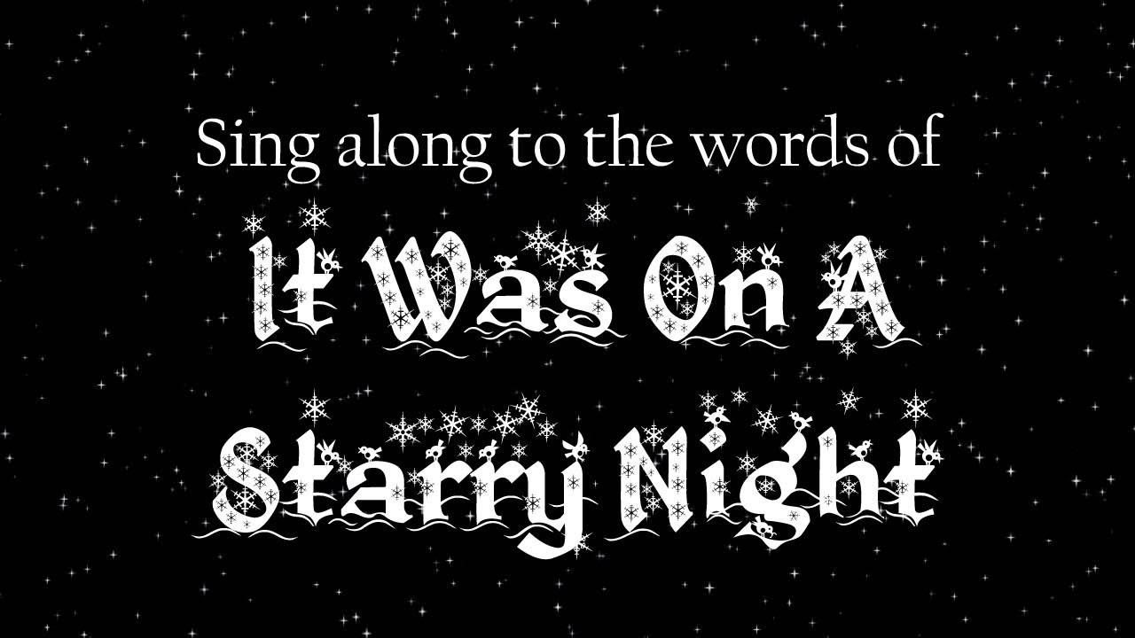 starry night christmas carol
