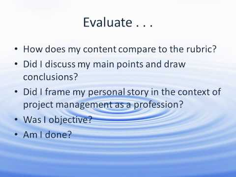Reflective Essays Video