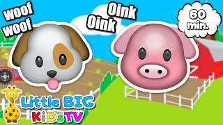Animal Sounds Song for Kids 🐷 + MORE   Nursery Rhymes & Baby Songs Little Big Kids TV