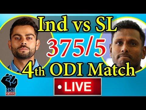 India vs Sri Lanka, 4th ODI, Live Cricket Score: Virat Kohli,  Power India To 375/5 Vs Sri Lanka