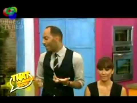 Malia Bautista on E! Channel with celebrity makeup artist Sam Fine
