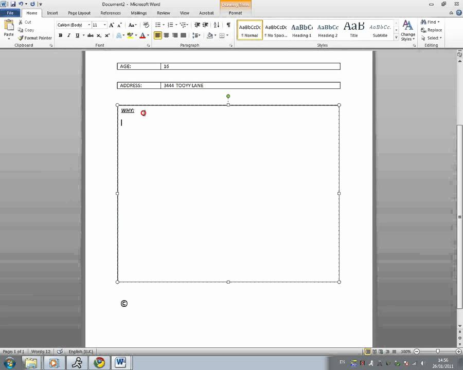 How To Create A Basic Form/Survey In Microsoft Word 2010 - Youtube