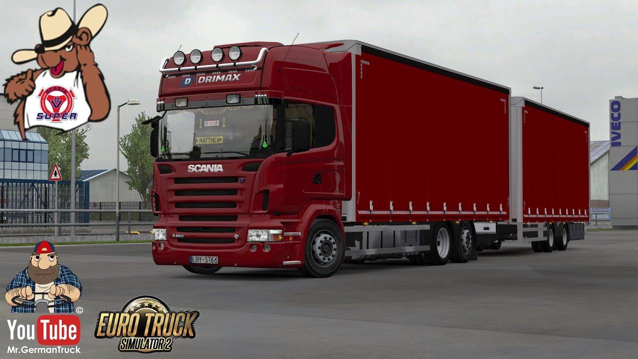 [ETS2 v1.36] Scania R Tandem + Ownable Trailer