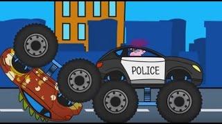 Свинка Пеппа и Полицейская погоня_Мультики про машинки и Монстр Трак для детей