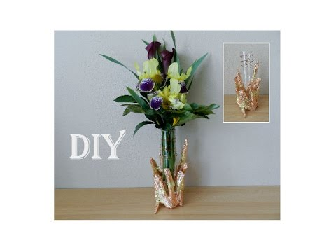 diy deko idee vase mit sten dekorieren cooper vase. Black Bedroom Furniture Sets. Home Design Ideas