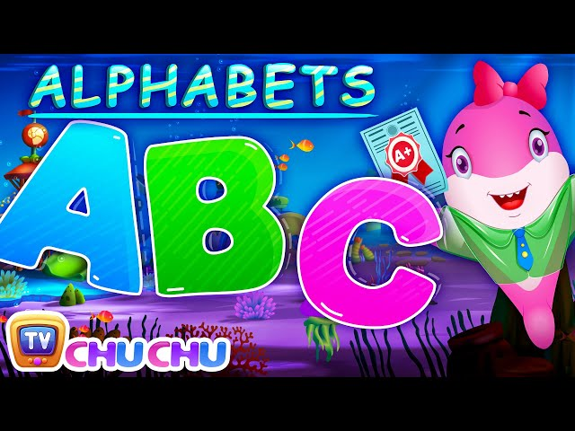 ChuChu TV Baby Shark ABC | Learn Alphabets with Baby Sharks & Friends | Nursery Rhymes & Kids Songs