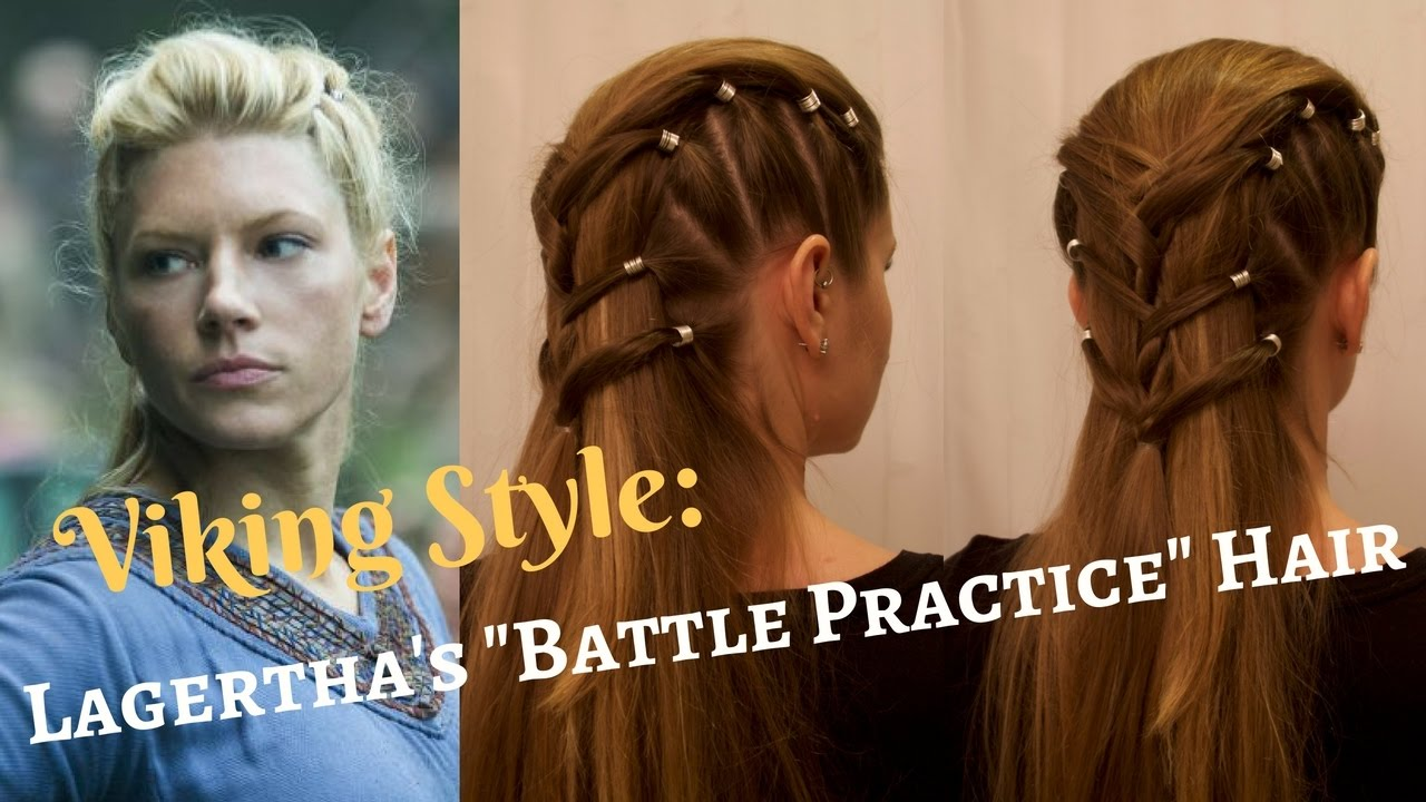 Vikings style lagerthas battle practice hair youtube ccuart Images