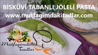 Bisküvi Tabanlı Jöleli Pasta Tarifi | Jöleli Pasta nasıl yapılır | mutfagimdakitadlar tarifleri