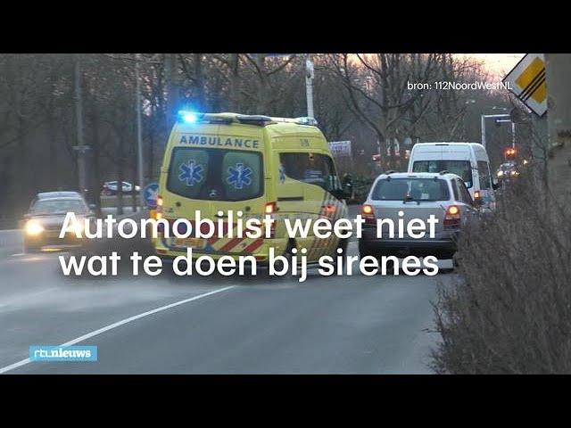 We snappen niets van zwaailichten: 'Mensen rijden zo de berm in  - RTL NIEUWS
