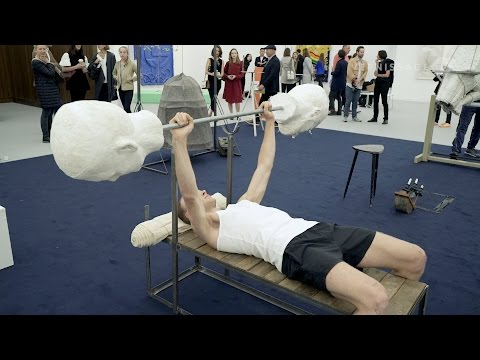 Augustas Serapinas: Jõusaal gym Performance at Frieze London 2016