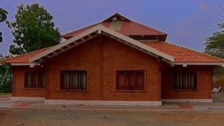 Low cost housing with bricks by Architect R.K. Ramesh | Shell house, hollow blocks, Hourdes