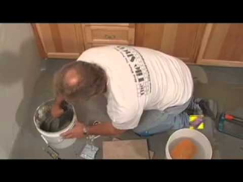 How To Install Kitchen Tile - Kitchen Floor Tile Install Video - YouTube