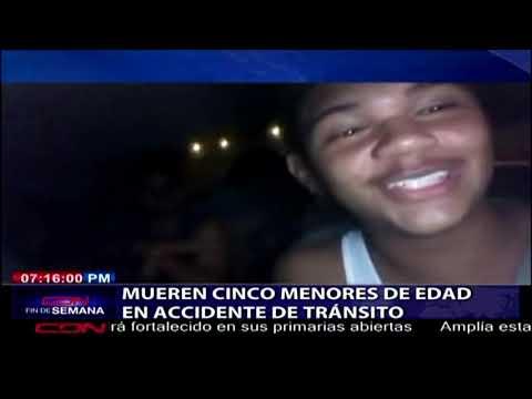 Mueren cinco menores de edad en accidente de tránsito