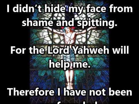 Passion Sunday Reading: Isaiah 50:4-9a (WEB)