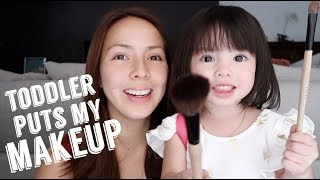 Toddler's First MakeUp Tutorial | Andi Manzano Reyes