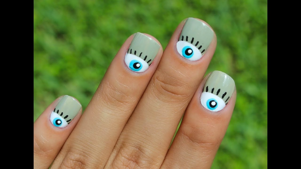 WEIRD Nail Trend!: The Evil Eye Nailart! - YouTube