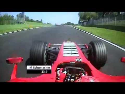 F1 Imola 2006 - Michael Schumacher Pole Lap Onboard