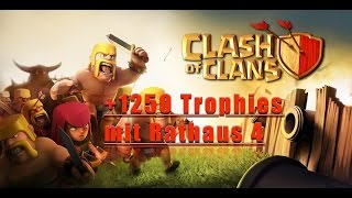 [Clash of Clans] Let's Play - Folge #8 - +1250 Trophäen mit Rathaus 4 [deutsch / german]