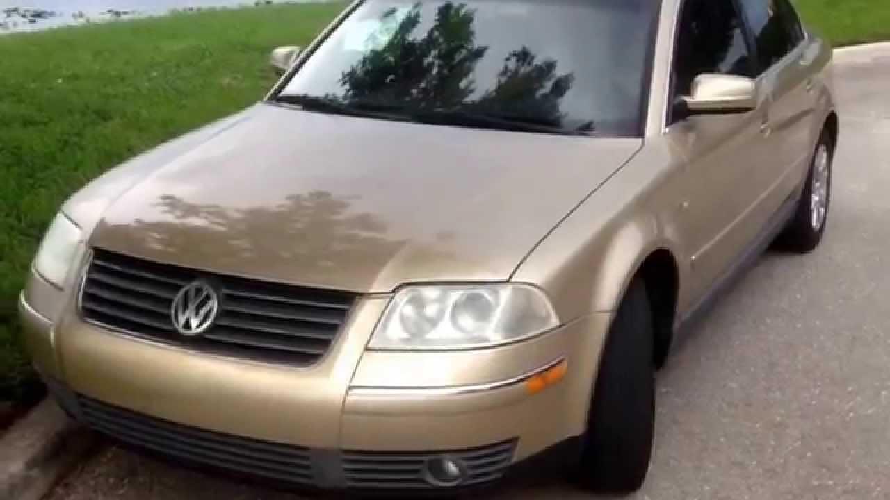 VW vw passat 2001 : 2001 VW Passat 1.8 turbo GLS for sale In West Palm Beach - YouTube