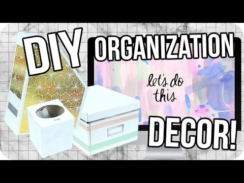 DIY Desk Organization Decor! Cheap & Easy!
