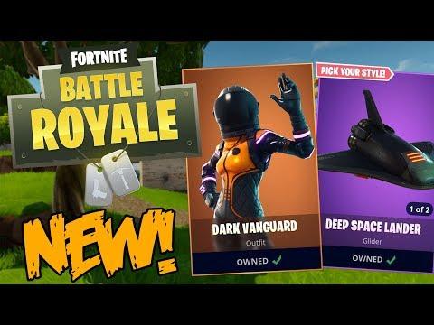 Fortnite Battle Royale New Featured Items Dark Vanguard Deep