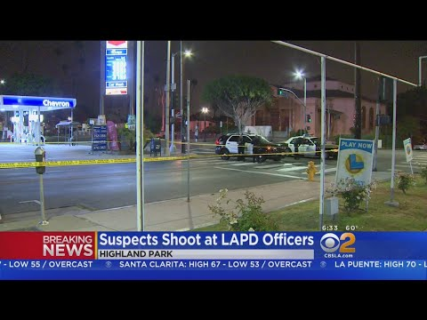 LAPD Officers Exchange Gun Fire With Stolen Car Suspects In Highland Park