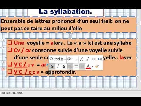 tronc commun 01 explication en français Versification