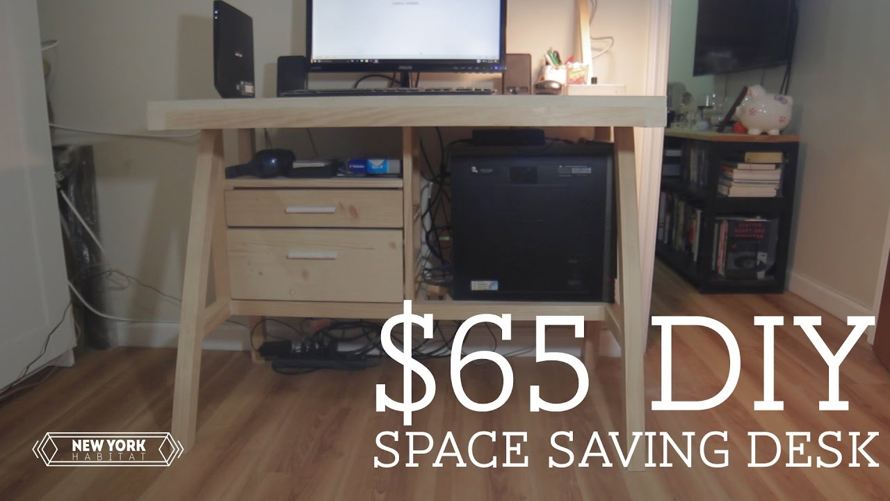 $65 DIY Space Saving Desk