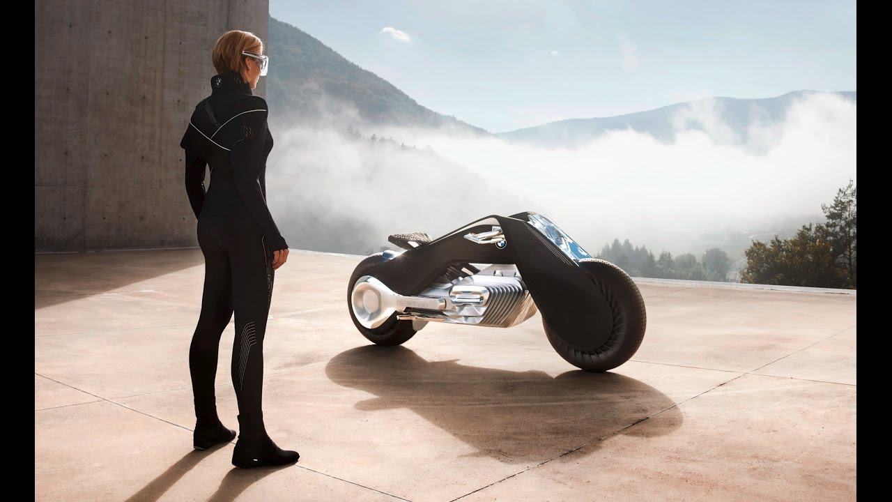 bmw motorrad vision next 100 doesn't require a helmet - self