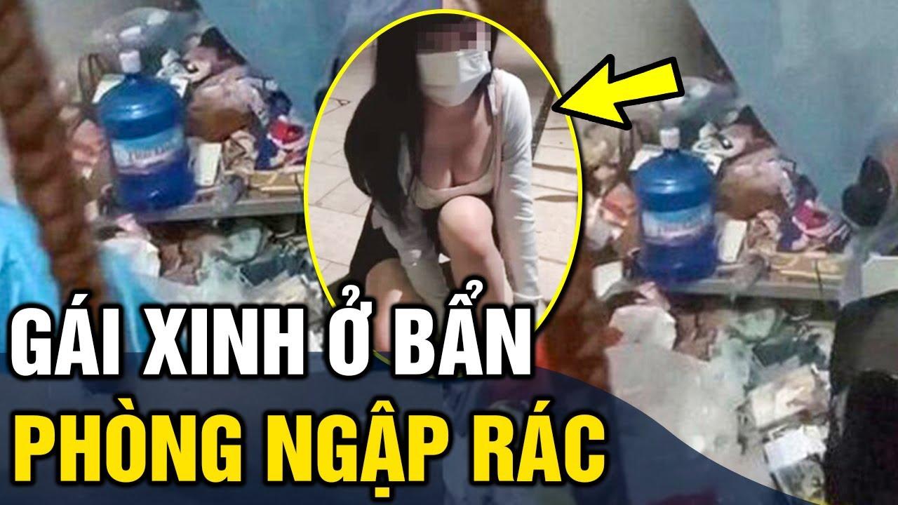 Gái xinh 'Ở BẨN' phòng ngập rác khiến nhân viên khử khuẩn 'CHOÁNG VÁNG'