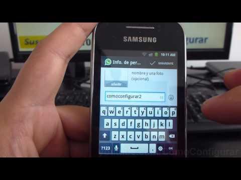 Como descargar e instalar Whatsapp en Android samsung Galaxy Y S5360 español Full HD