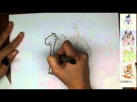 How to draw a cartoon dragon - how to draw 2015