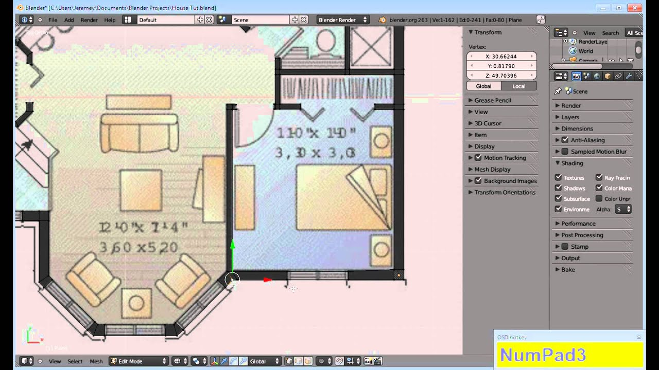 Building a house in blender part 1 youtube malvernweather Images