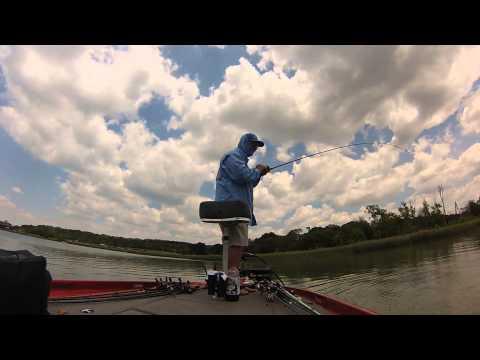 Bass fishing top water bass joe pool lake tx 02 may for Joe pool lake fishing report