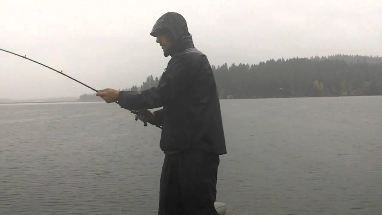 Fishing fall rain storms bass facts youtube for Bass fishing in the rain