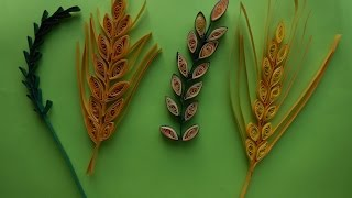 How to make Quilling Wheat Grain/Leaf Stem using Comb