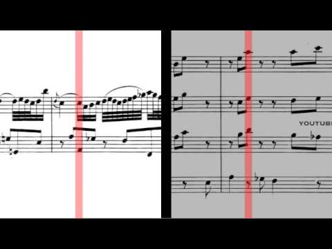 BWV 1056 - Harpsichord Concerto in F Minor (Scrolling)